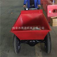 树行运水拉料的动力鸡公车 汽油两轮斗车
