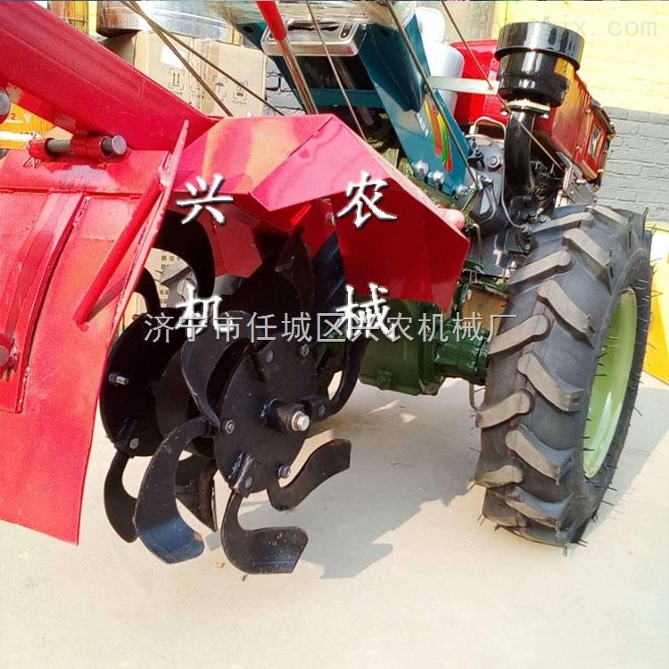 果園小型旋耕機 15馬力手扶帶座的耕地機