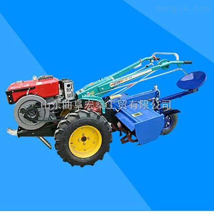 农用小手扶犁地机 电启动手扶拖拉机旋耕机