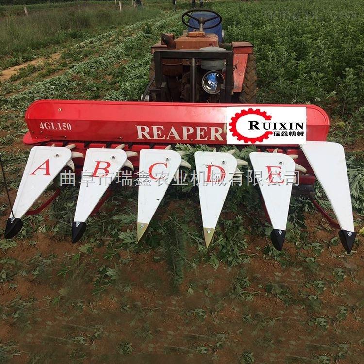 批发小型稻麦收割机多功能高速芦苇割晒机