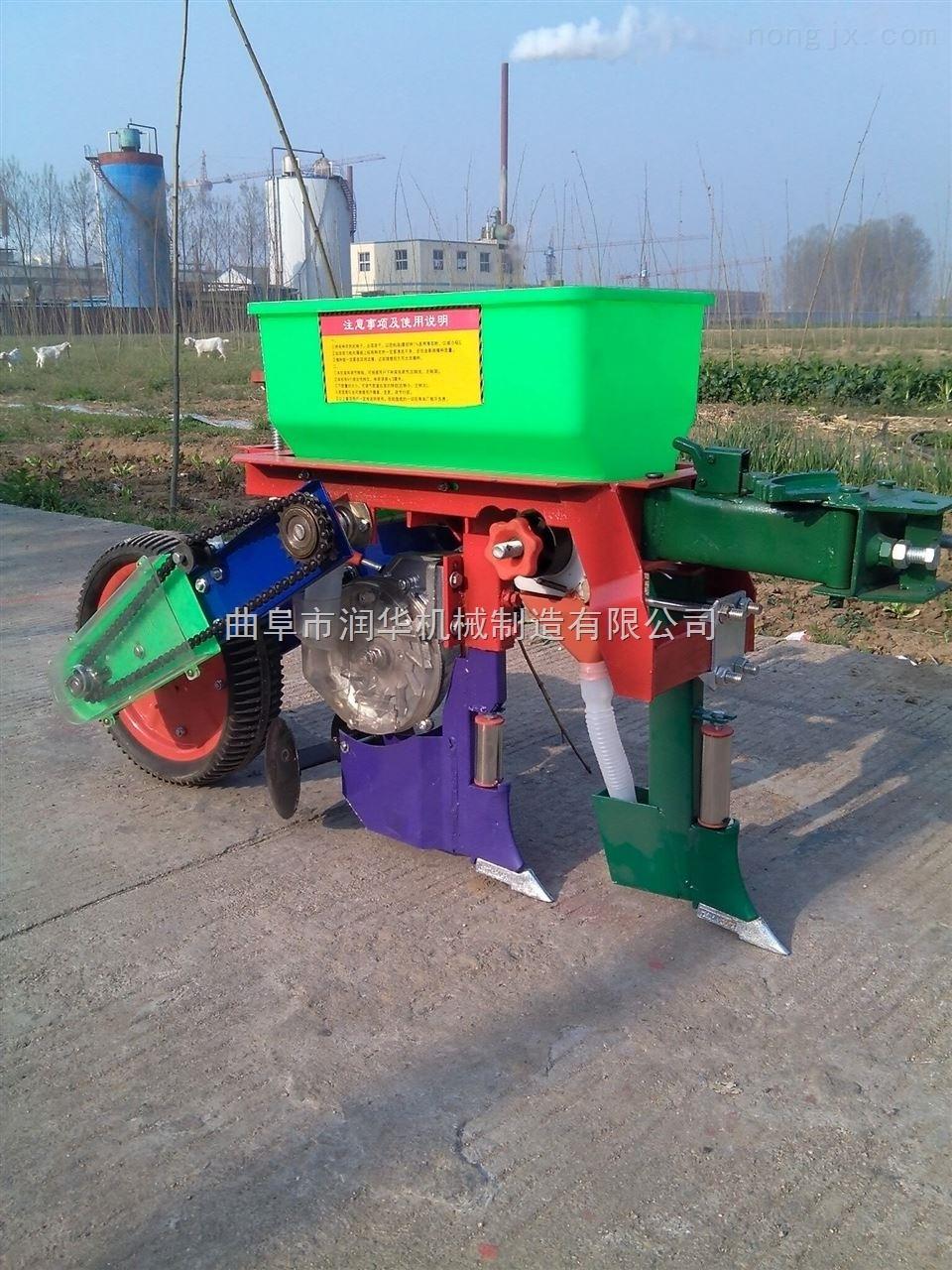 手扶车单行玉米精播机 家用小型玉米播种机