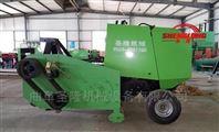 拖拉机带动玉米秸秆捡拾打捆机