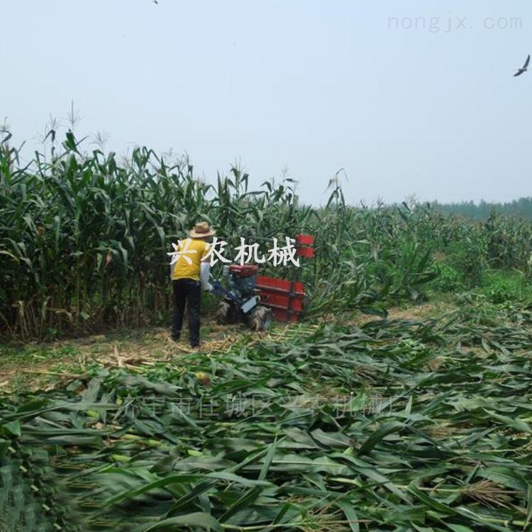 单杠四轮带苜蓿收割机 小型玉米秸秆收获机