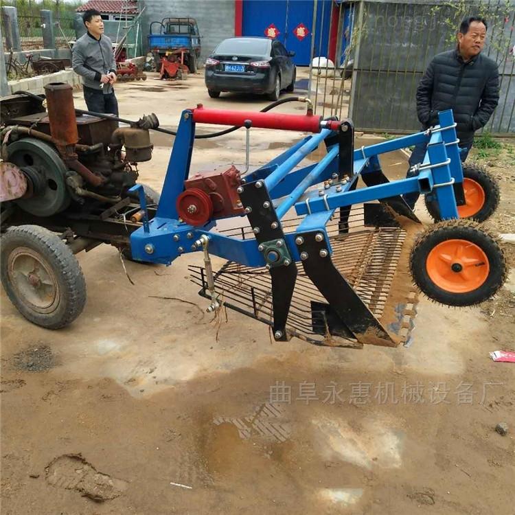 柴油机驱动挖蒜机 四轮前置大蒜收获机厂家