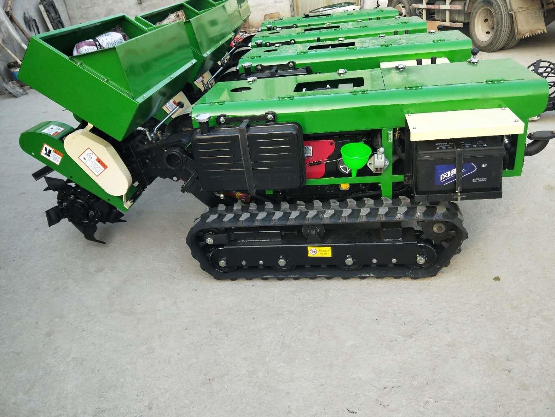 新款智能履带式遥控微耕机果园大棚农用旋耕