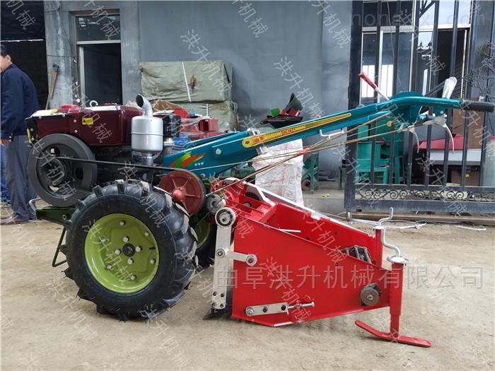 四轮车带马铃薯收获机 手扶车带土豆收割机