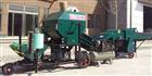 大麦草干湿秸秆压缩包膜机
