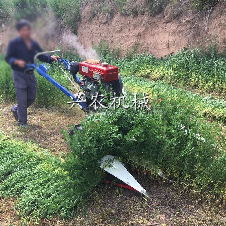 多功能辣椒油菜割晒机价格 牧草收割机