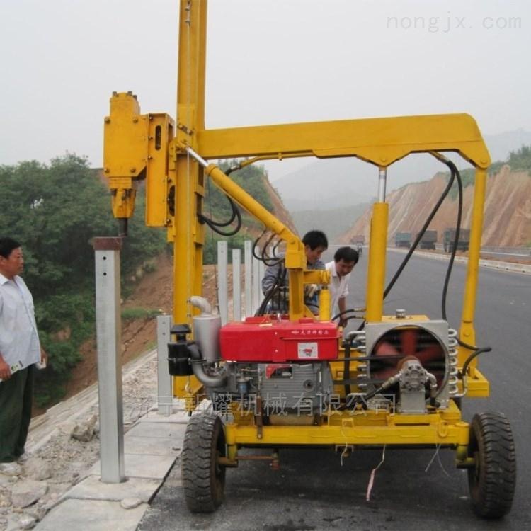 护栏打桩机的打桩效率 液压桩机型号配置
