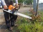 园林苗木土球移树机 珠海汽油链条式移苗机