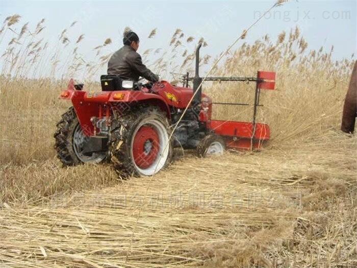 水稻打捆收割机厂家 柴油动力双层割晒机