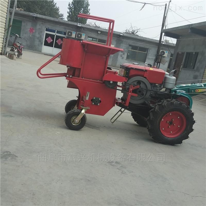 单行玉米收割机 柴油动力苞米收获机图片
