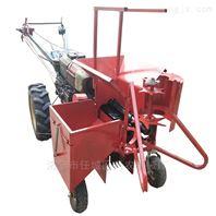 微耕机带动玉米收割机结构
