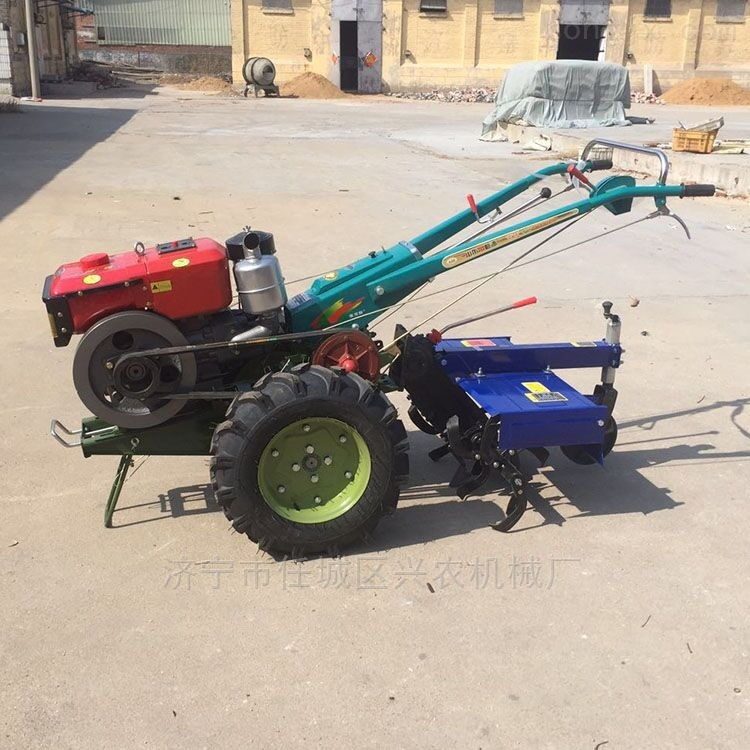耕田開溝機小型單行手扶拖拉機玉米收割機