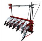 手扶车带小麦收割机 皮带传动四轮割晒机