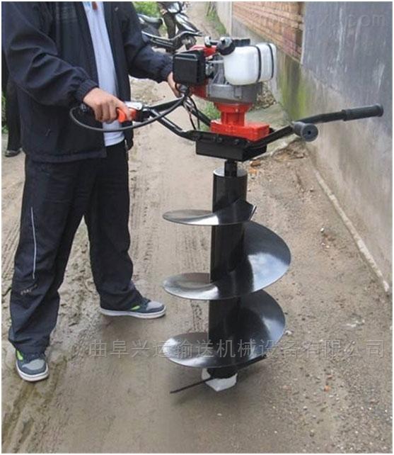挖坑機鑽頭汽油鑽眼機 多少錢一台