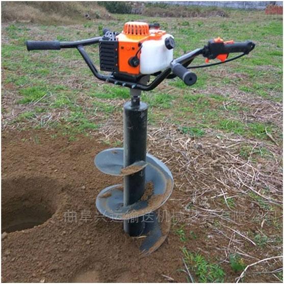 大直徑鑽孔機價格葡萄立樁打坑機 重量輕x