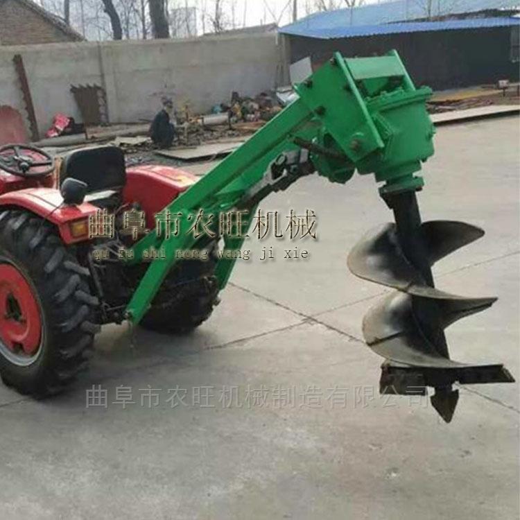 大马力拖拉机打坑机 园林绿化种植挖坑机