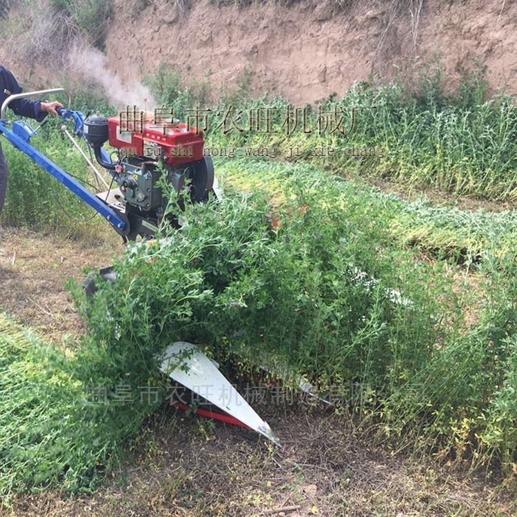 手扶式黑麦草收割机视频 稻麦割晒机批发