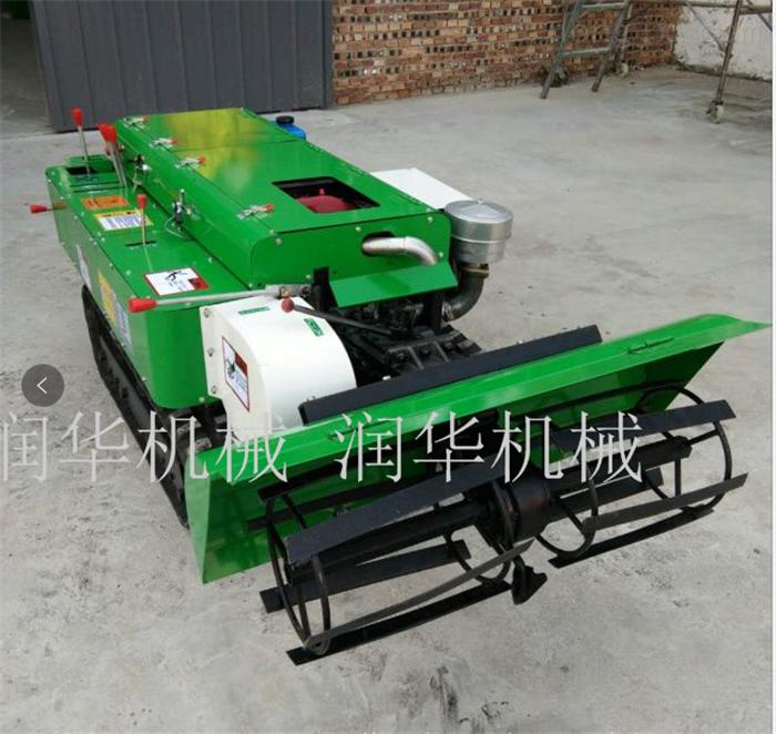 常柴发动机履带开沟机 加重型旋耕施肥机
