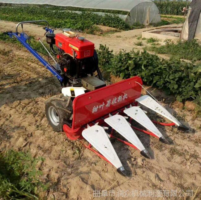 玉米秸秆放倒机 手扶车带牧草割晒机 割草机