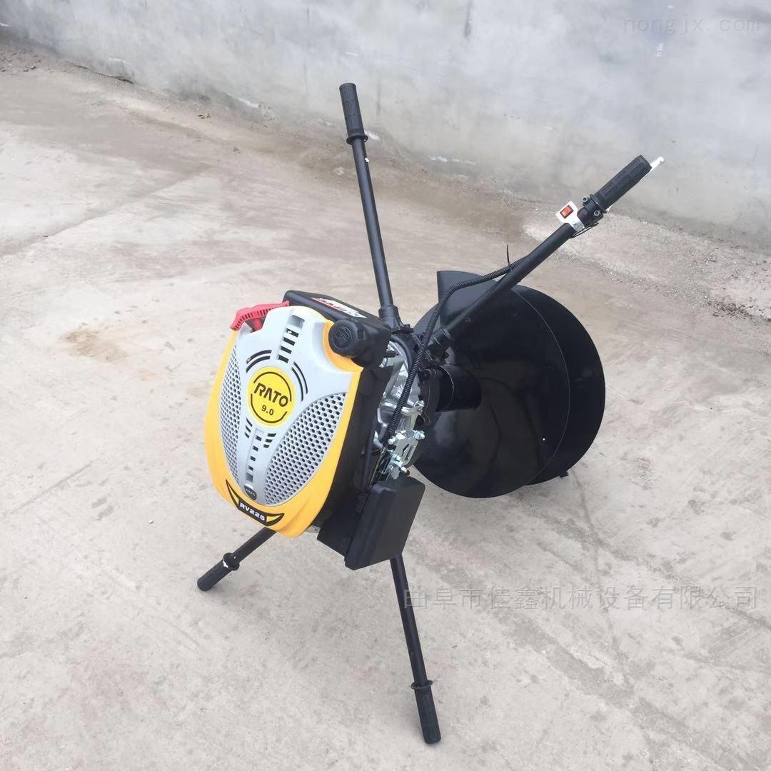 拖拉机悬挂式挖坑机 佳鑫柴油钻眼机价格