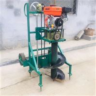 手推汽油栽树挖坑机 种树植树造林打坑机