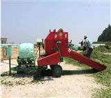 全自动柴油机打捆包膜机 圆捆饲料草打包机