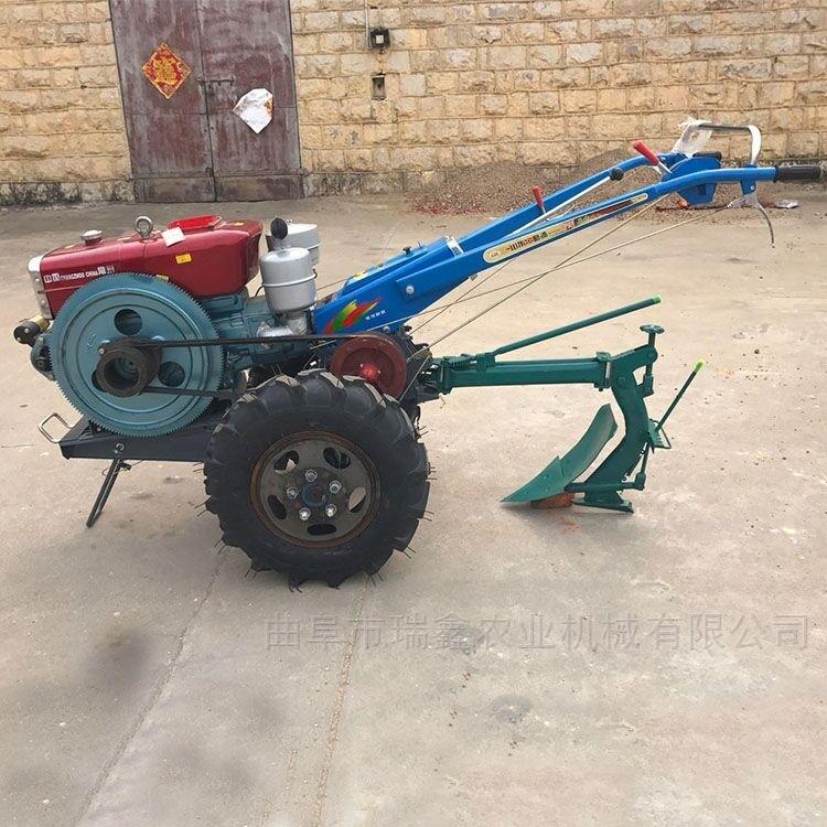 农用电启动旋耕犁地机 手扶打田机