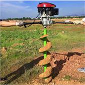 农用多用途挖树坑机 旋转式汽油挖坑机