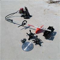 农用小型旋↑耕松土机 背负式汽油除草机