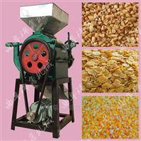 小型黄豆对辊挤扁机