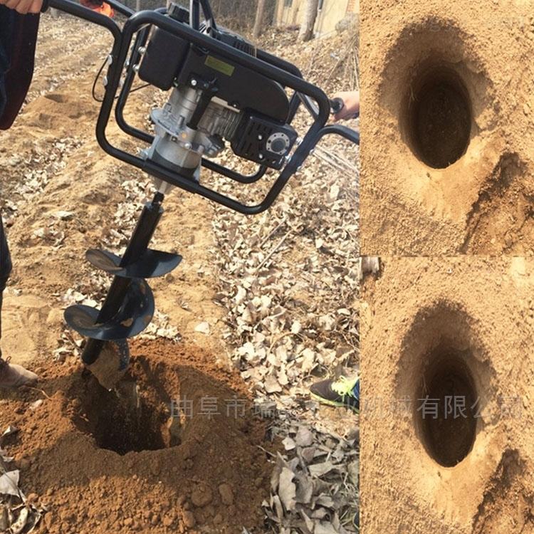 果树施肥大功率挖坑机 大马力拖拉机打坑机
