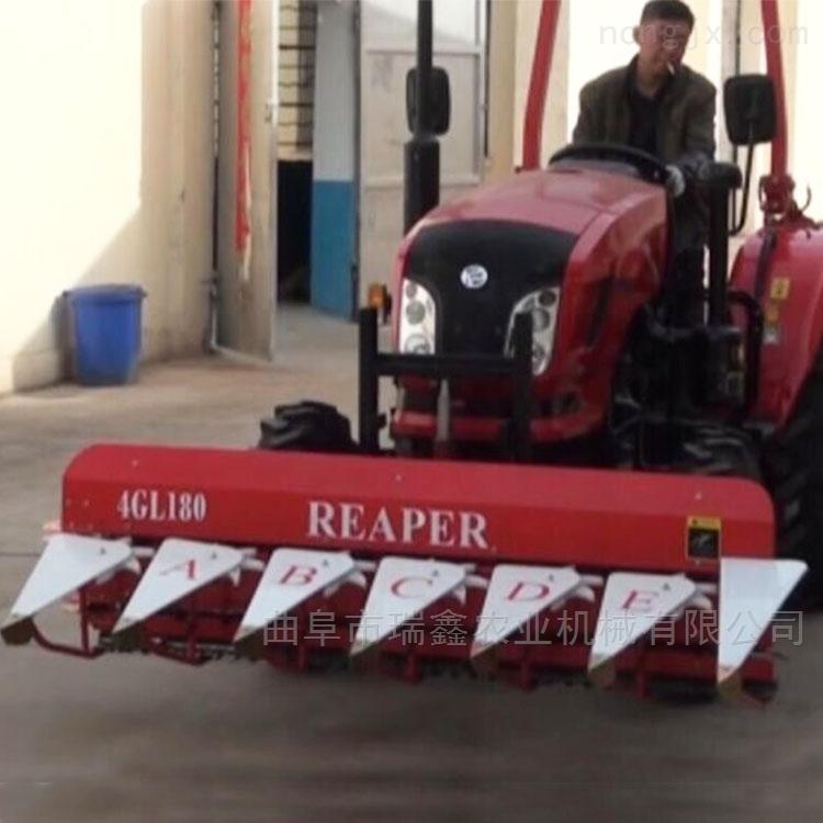 多功能稻麦收割机价格 高效省油玉米割晒机