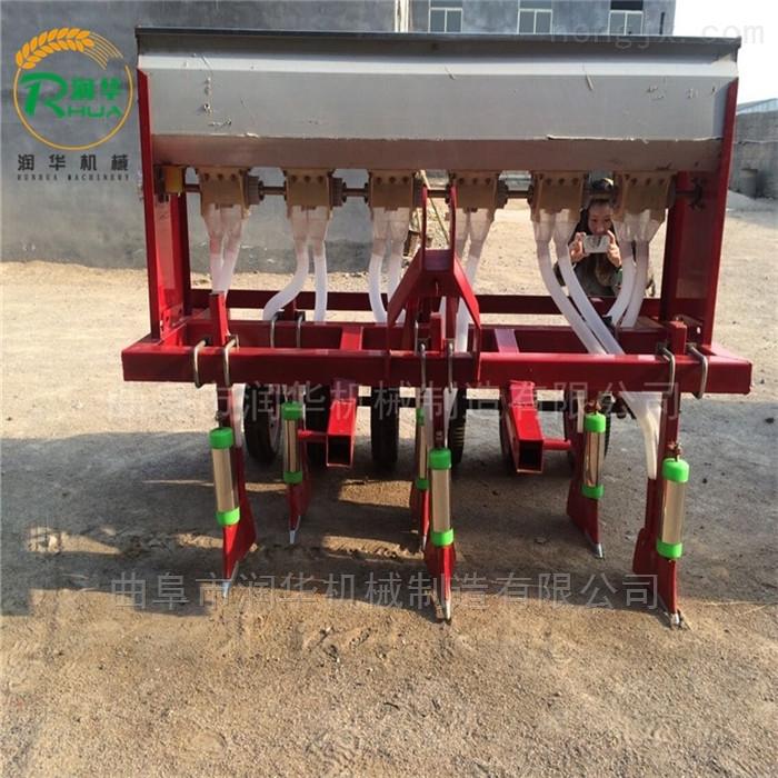 汽油手推花生播种机 玉米田套种大豆精播机