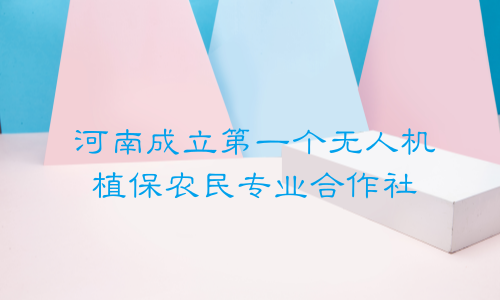 河南成立第一个无人机植保农民专业合作社