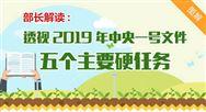 """农业农村部部长解读:2019年中央一号文件""""五个¤主要硬任务"""""""